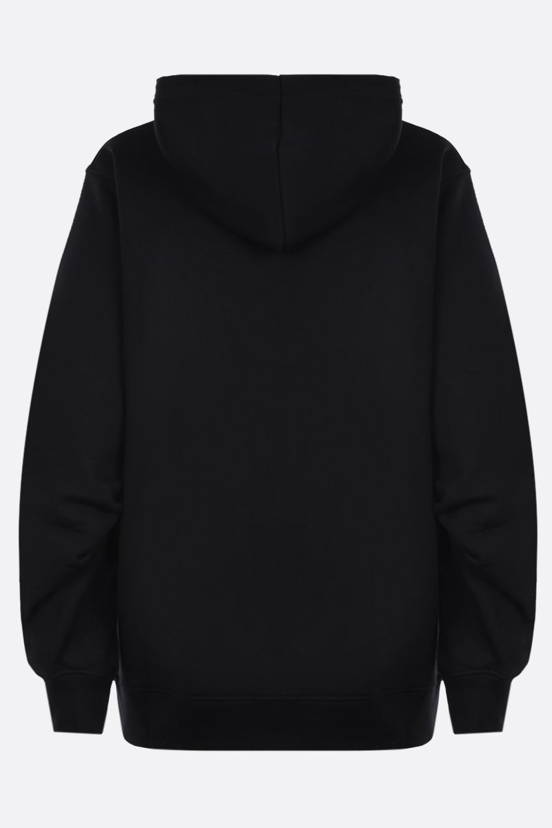 MOSCHINO: Moschino embroidered cotton hoodie Color Black_2