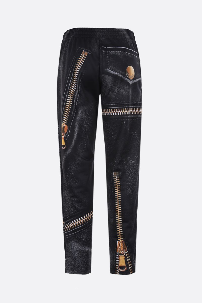 MOSCHINO: Macro Biker print technical jersey joggers Color Black_2