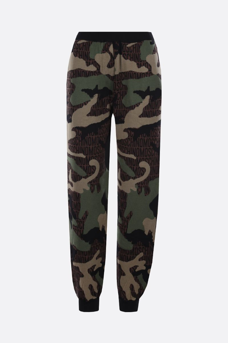 MOSCHINO: Lost & Found wool joggers_1