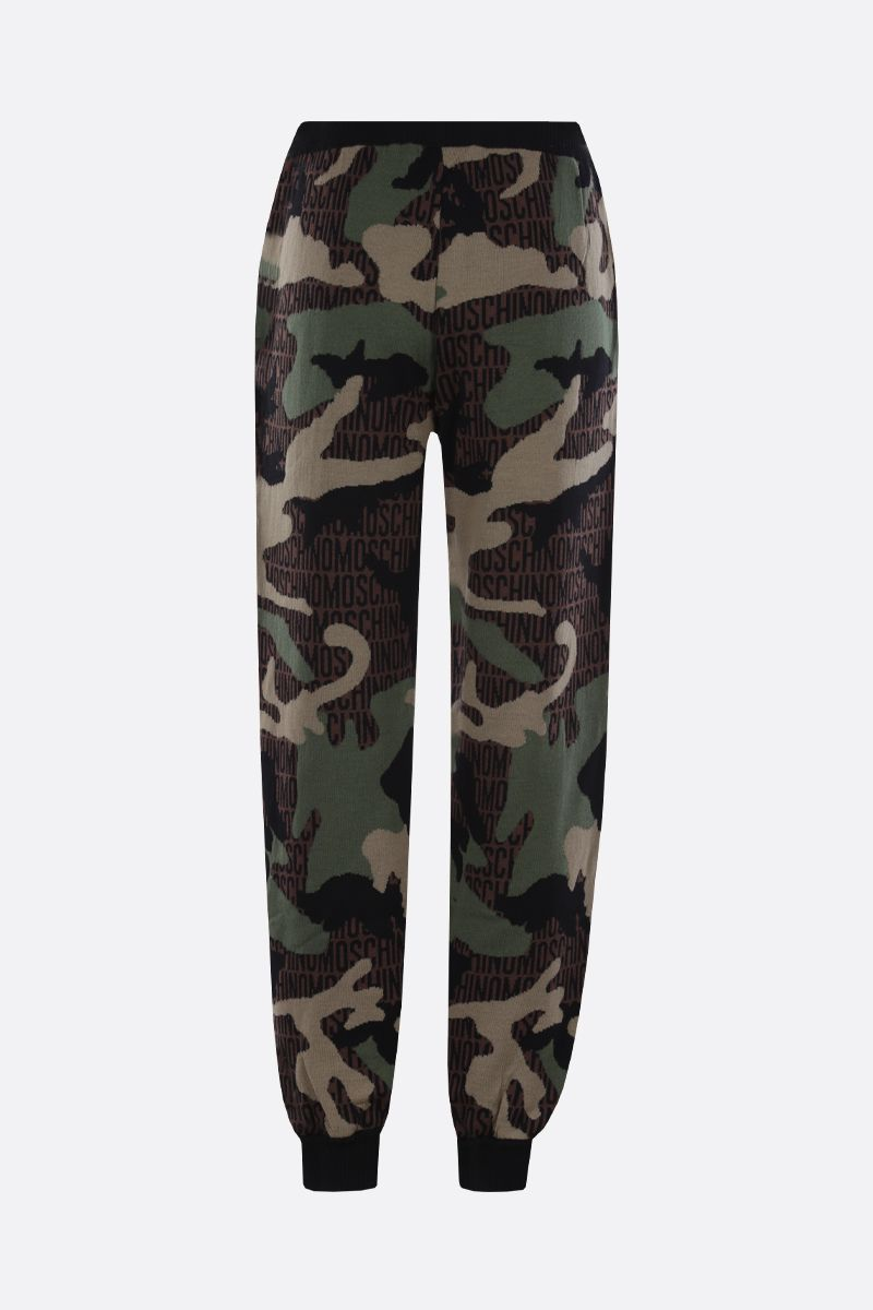 MOSCHINO: Lost & Found wool joggers_2