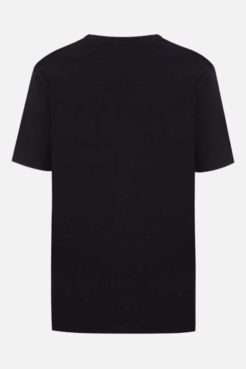 MOSCHINO: Moschino embroidered cotton t-shirt Color Black_2