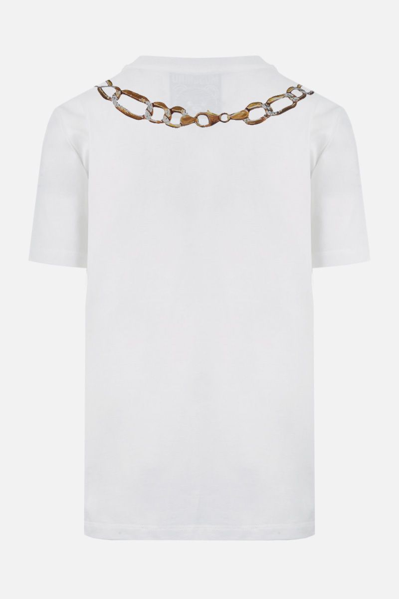 MOSCHINO: Moschino Necklace print cotton t-shirt Color White_2
