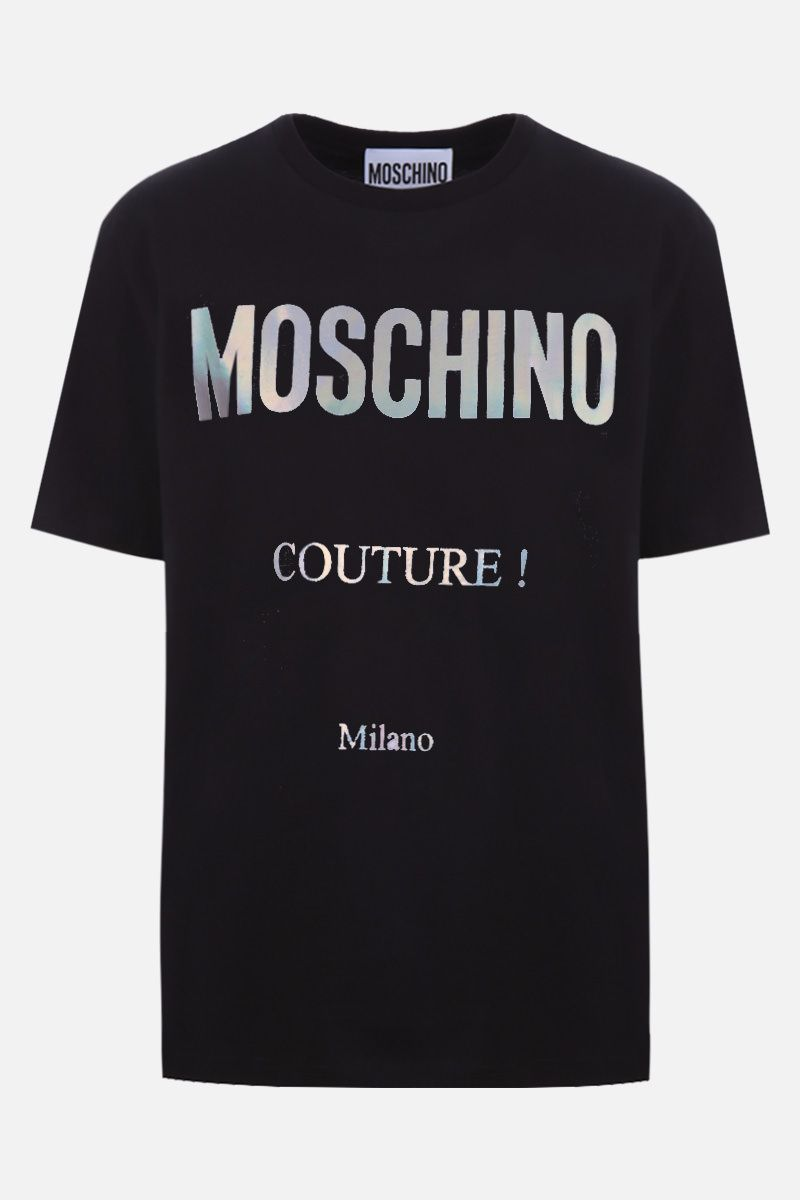 MOSCHINO: Moschino Couture! print cotton t-shirt Color Black_1