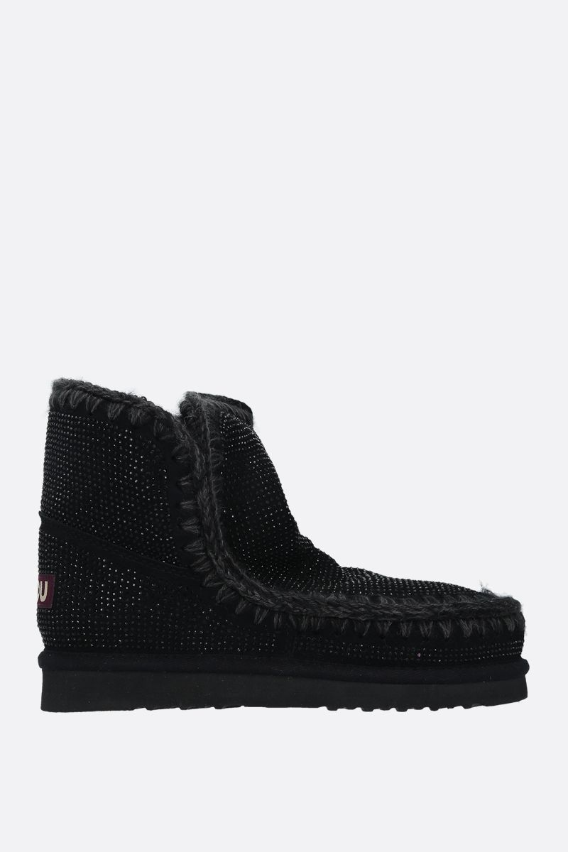 MOU: eskimo 18 crystal-embellished suede Color Black_1