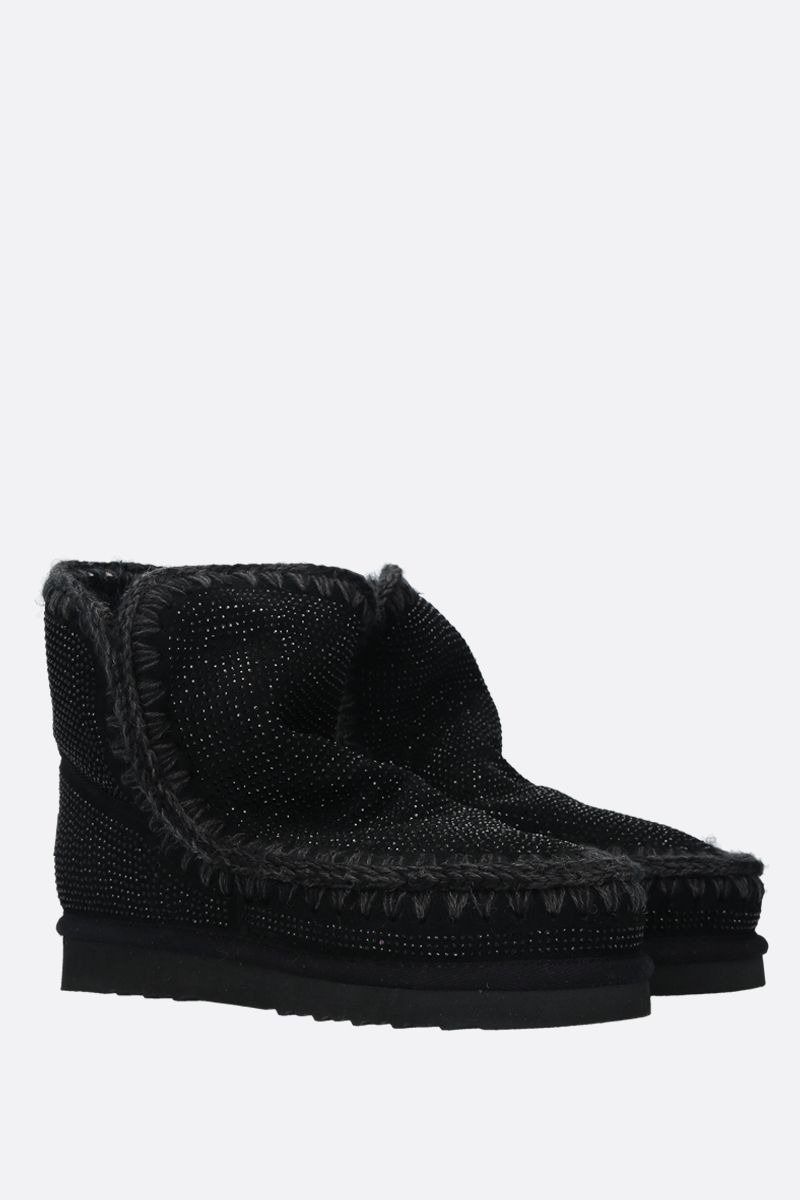 MOU: eskimo 18 crystal-embellished suede Color Black_2