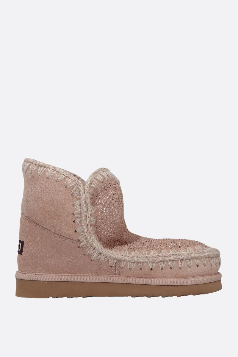 MOU: eskimo 18 crystal-embellished suede Color Pink_1