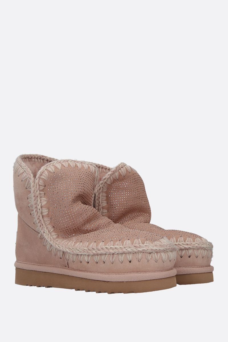 MOU: eskimo 18 crystal-embellished suede Color Pink_2