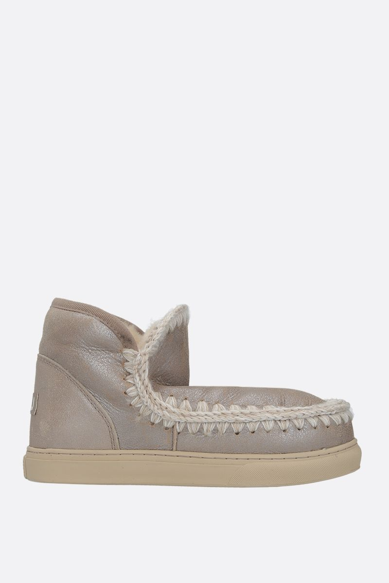 MOU: eskimo sneaker laminated leather Color Grey_1