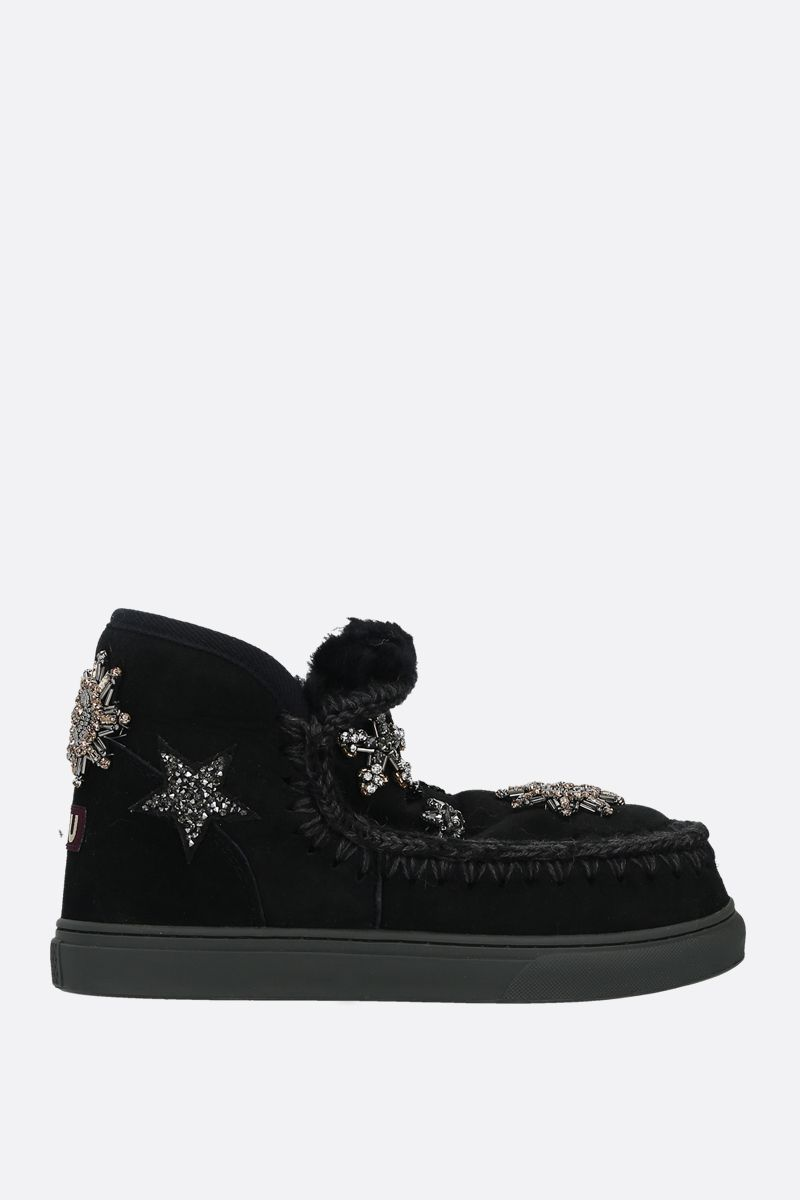 MOU: eskimo sneaker embellished suede Color Black_1