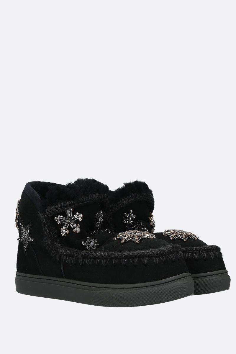 MOU: eskimo sneaker embellished suede Color Black_2