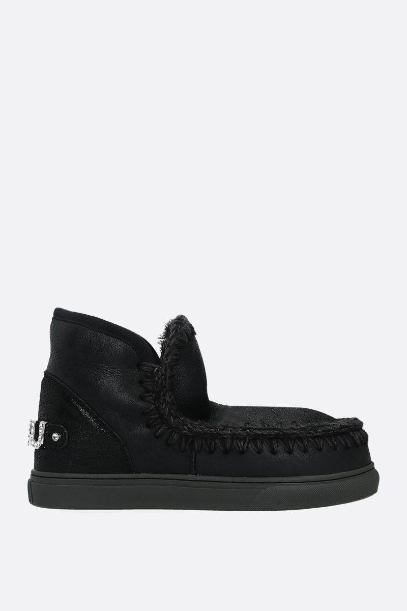 MOU: eskimo sneakers velvet suede Color Black_1