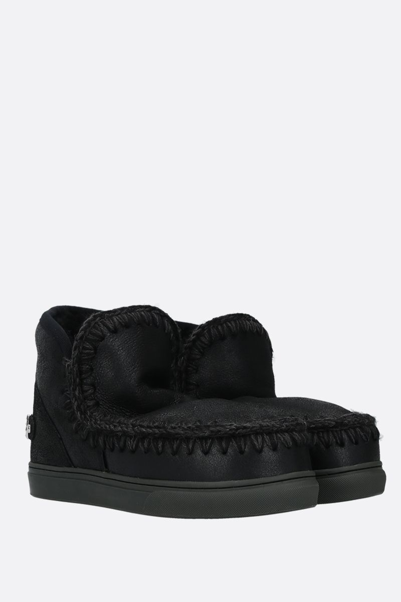 MOU: eskimo sneakers velvet suede Color Black_2