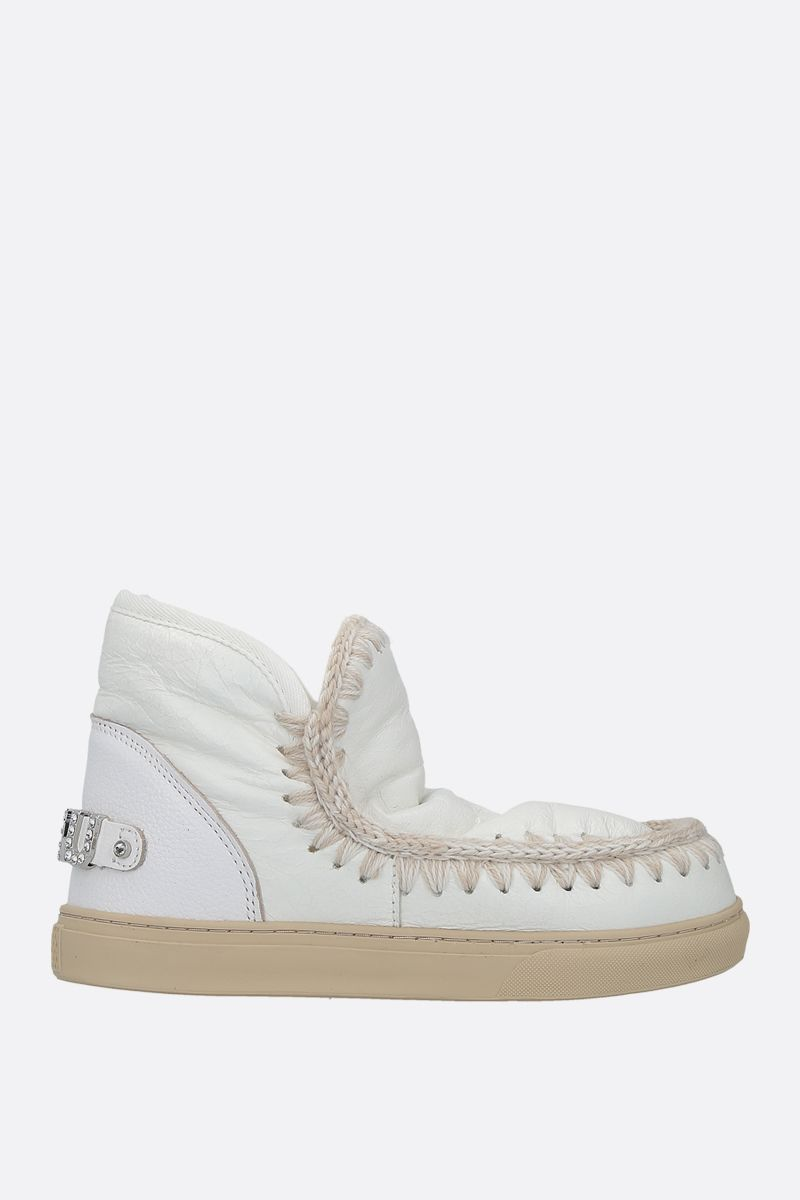 MOU: eskimo sneakers crinckled leather Color White_1