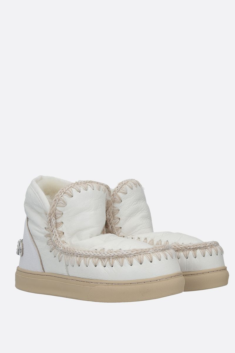 MOU: eskimo sneakers crinckled leather Color White_2