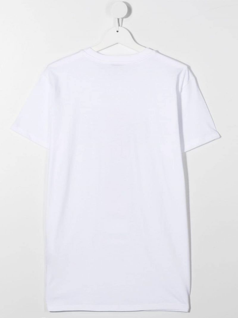 MSGM KIDS: Msgm Youth print cotton t-shirt Color White_2
