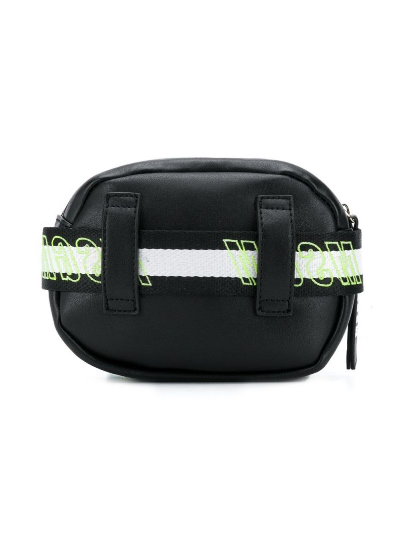 MSGM KIDS: MSGM faux leather belt bag Color Black_2