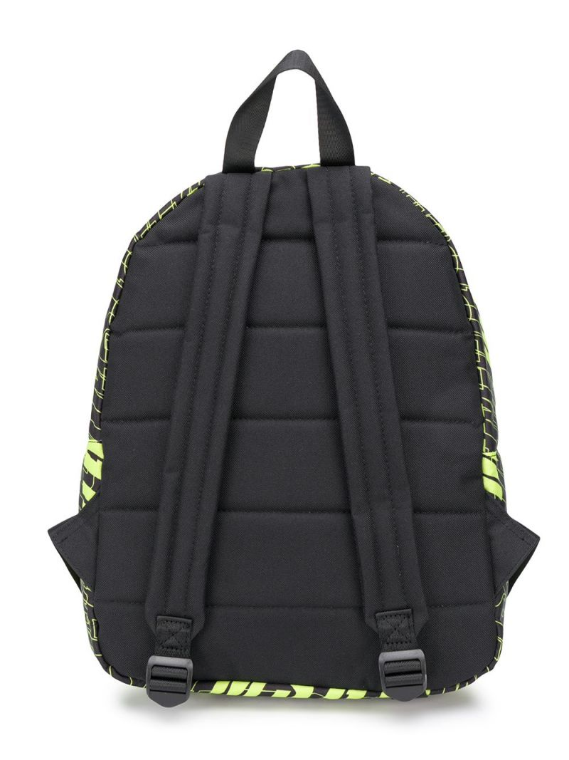 MSGM KIDS: logo print nylon backpack Color Black_2