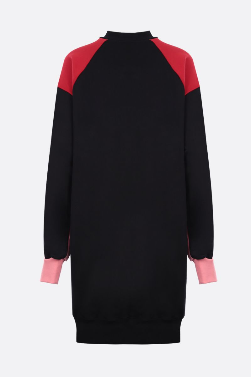 MSGM: MSGM print cotton sweatshirt dress Color Black_2