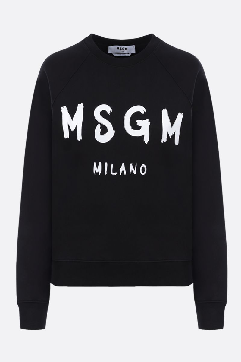 MSGM: MSGM Milano print cotton sweatshirt Color Black_1