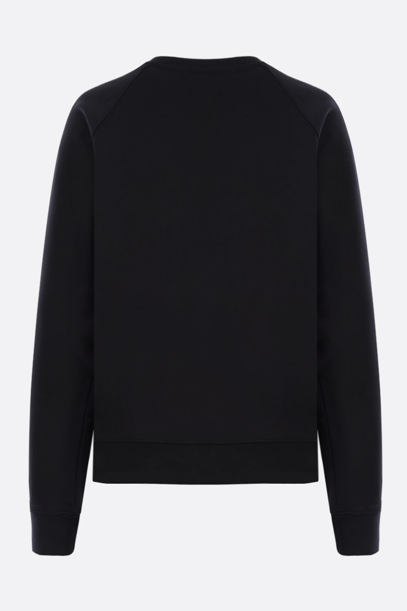 MSGM: MSGM Milano print cotton sweatshirt Color Black_2