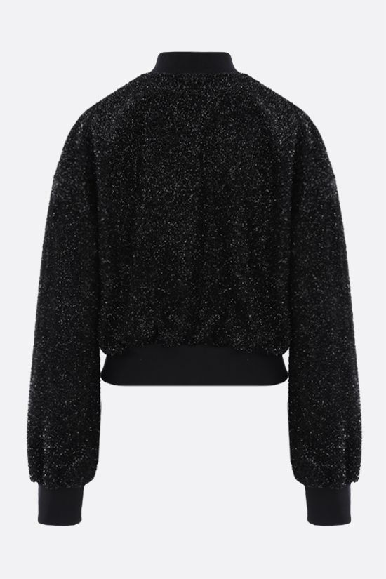 MSGM: boxy-fit lurex sweatshirt Color Black_2