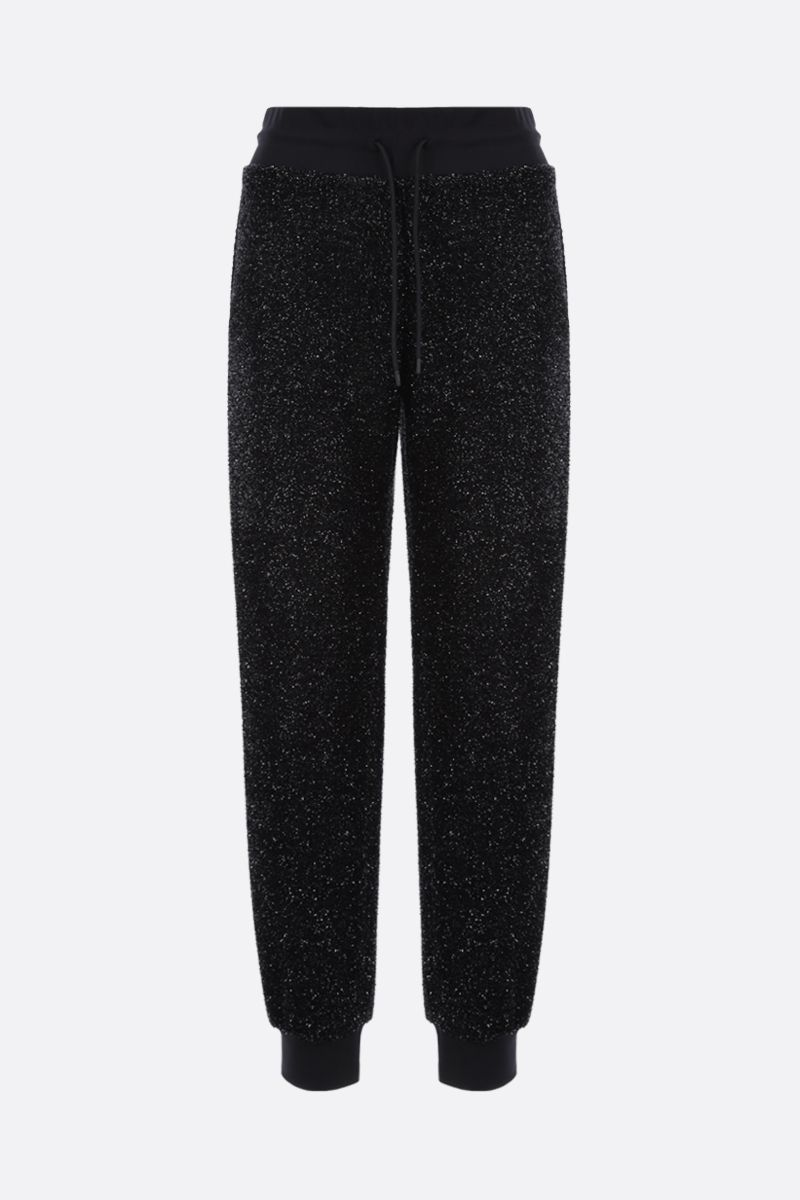 MSGM: lurex joggers Color Black_1