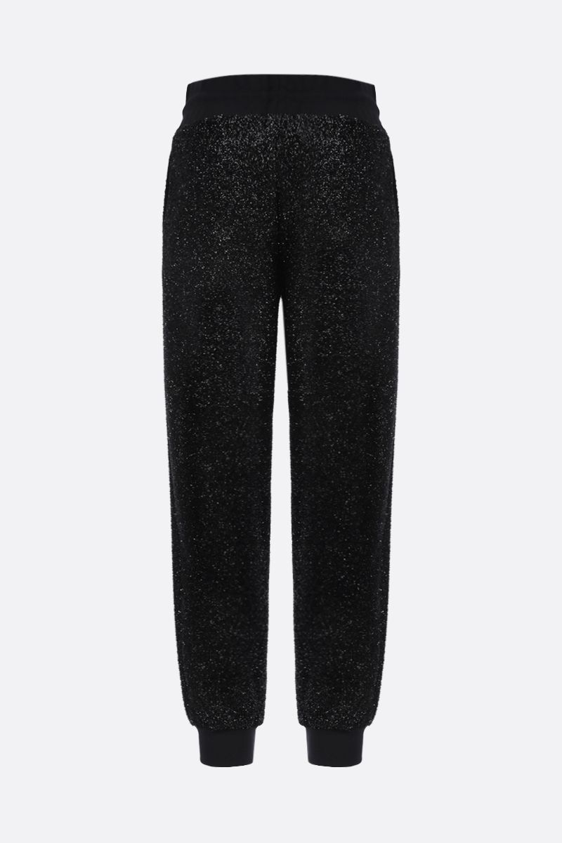 MSGM: lurex joggers Color Black_2