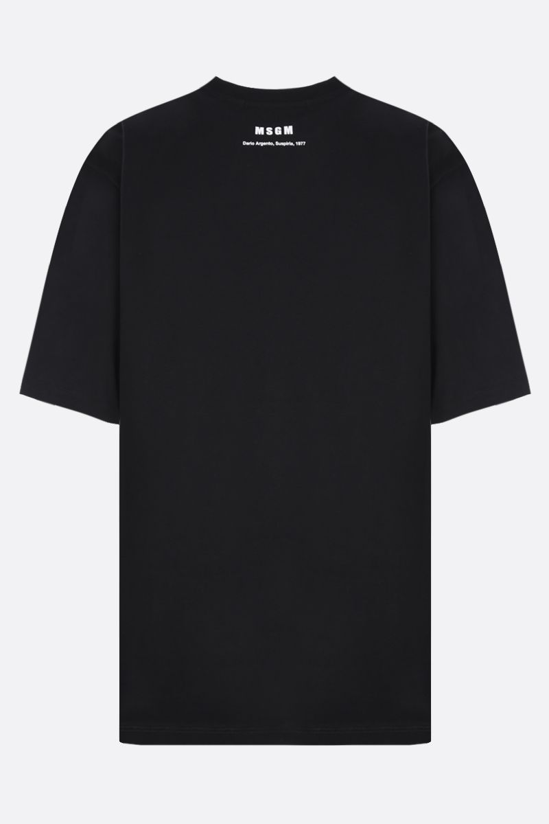 MSGM: Dario Argento X MSGM oversize cotton t-shirt Color Black_2