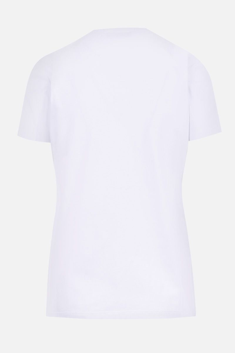 MSGM: Msgm print cotton t-shirt Color White_2