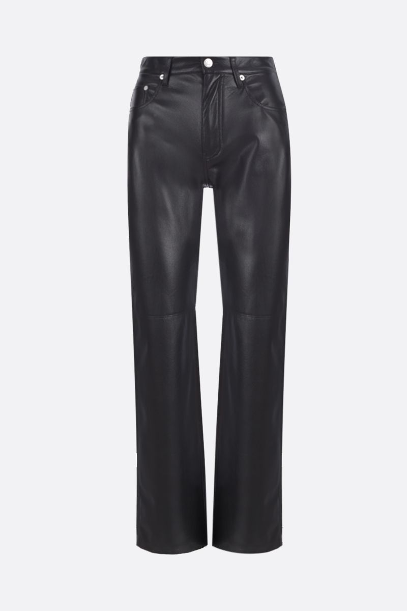 NANUSHKA: Vinni vegan faux leather slim pants Color Black_1