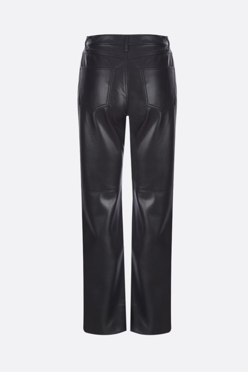 NANUSHKA: Vinni vegan faux leather slim pants Color Black_2