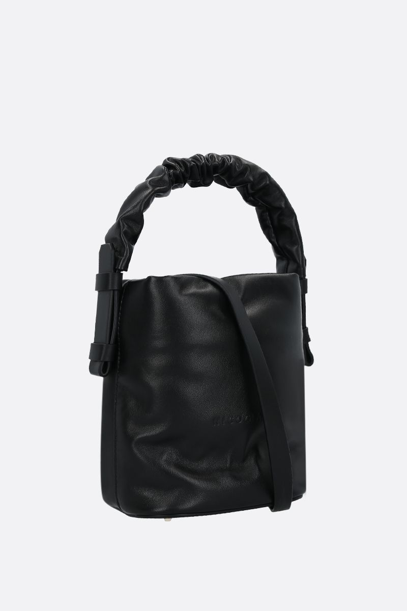 NICO GIANI: Adenia mini smooth leather top handle bag Color Black_2