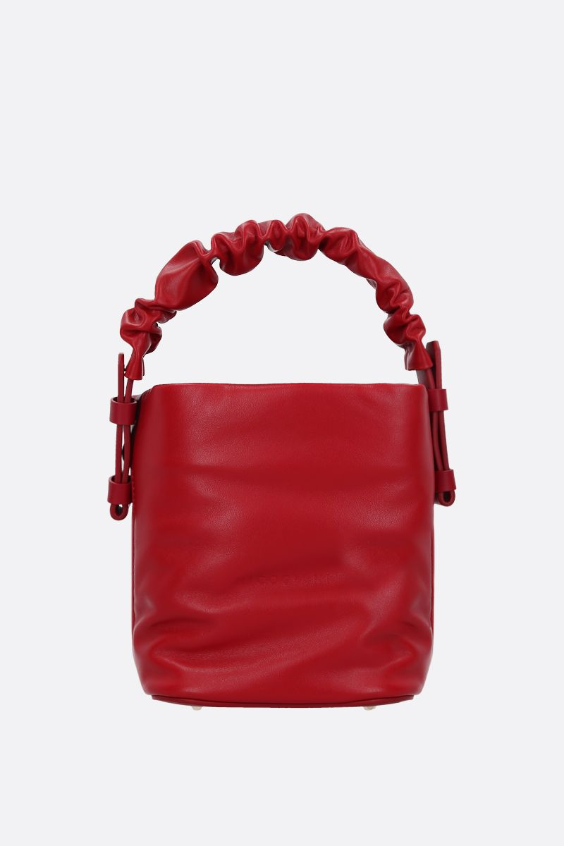 NICO GIANI: Adenia mini smooth leather top handle bag Color Red_1