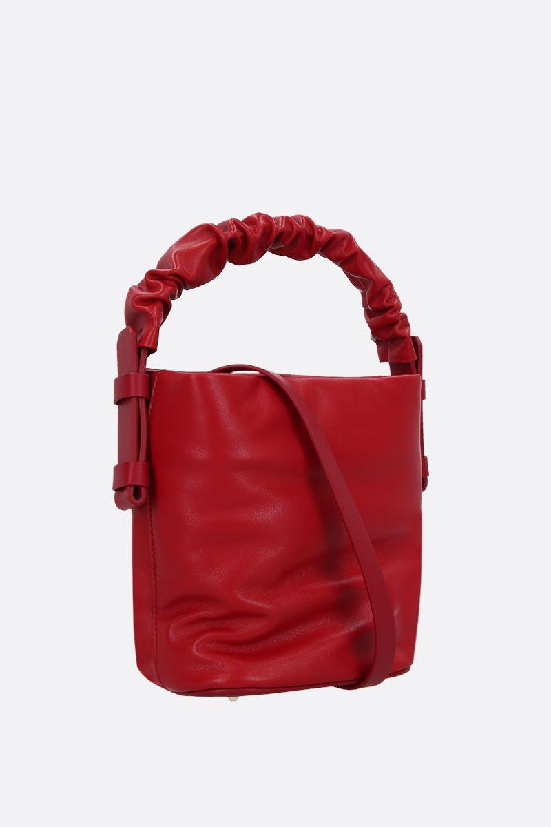 NICO GIANI: Adenia mini smooth leather top handle bag Color Red_2