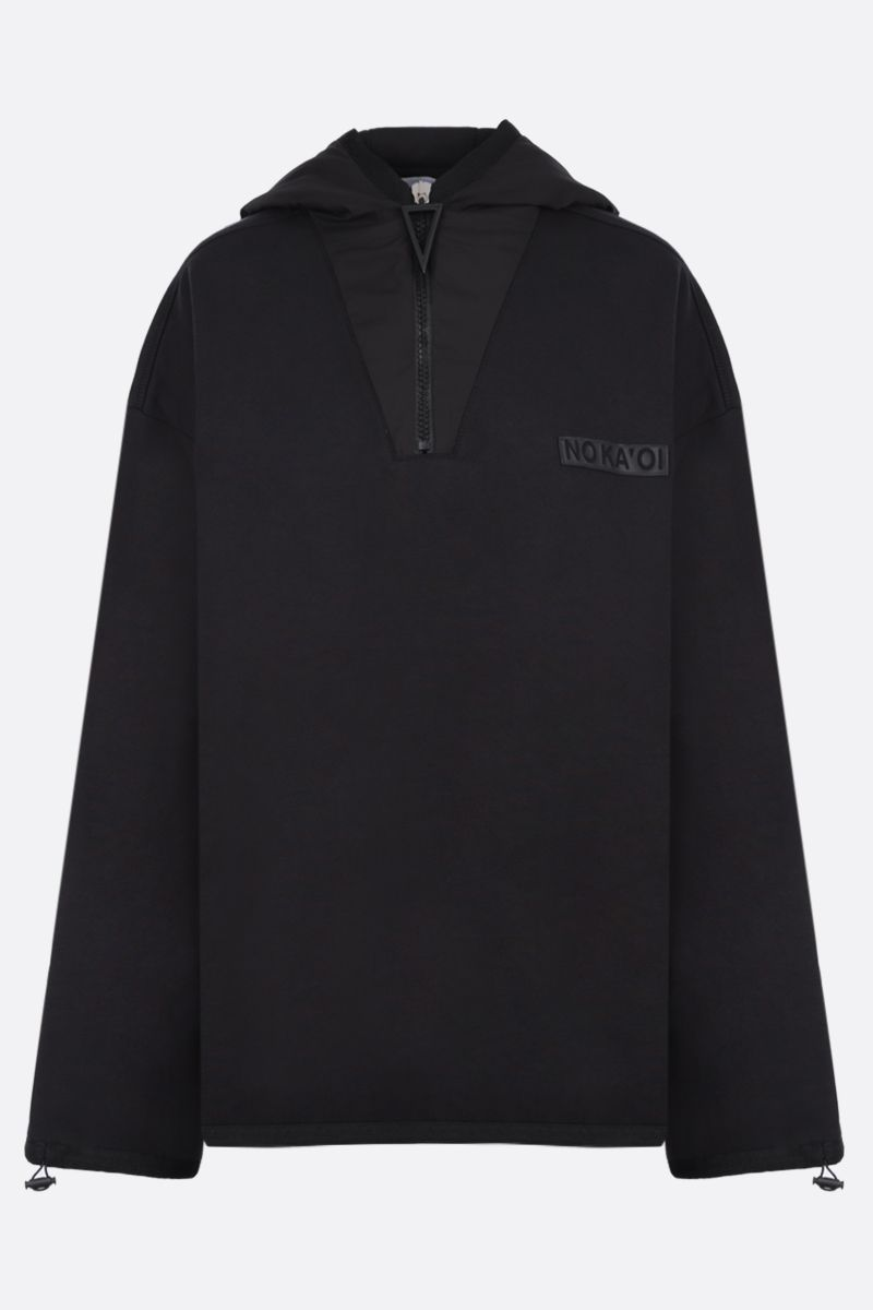 NO KA'OI: Horizon cotton blend hoodie Color Black_1