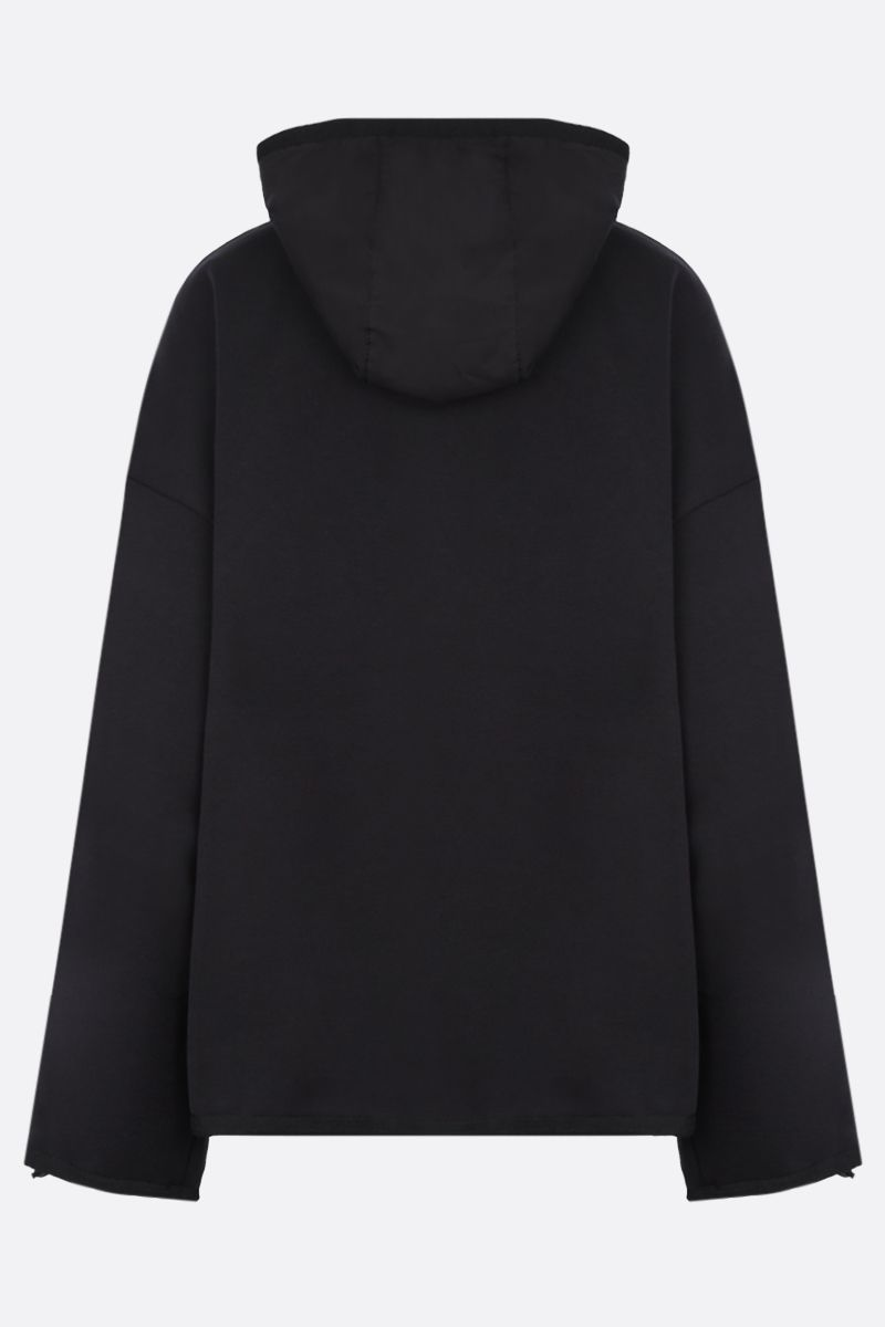 NO KA'OI: Horizon cotton blend hoodie Color Black_2