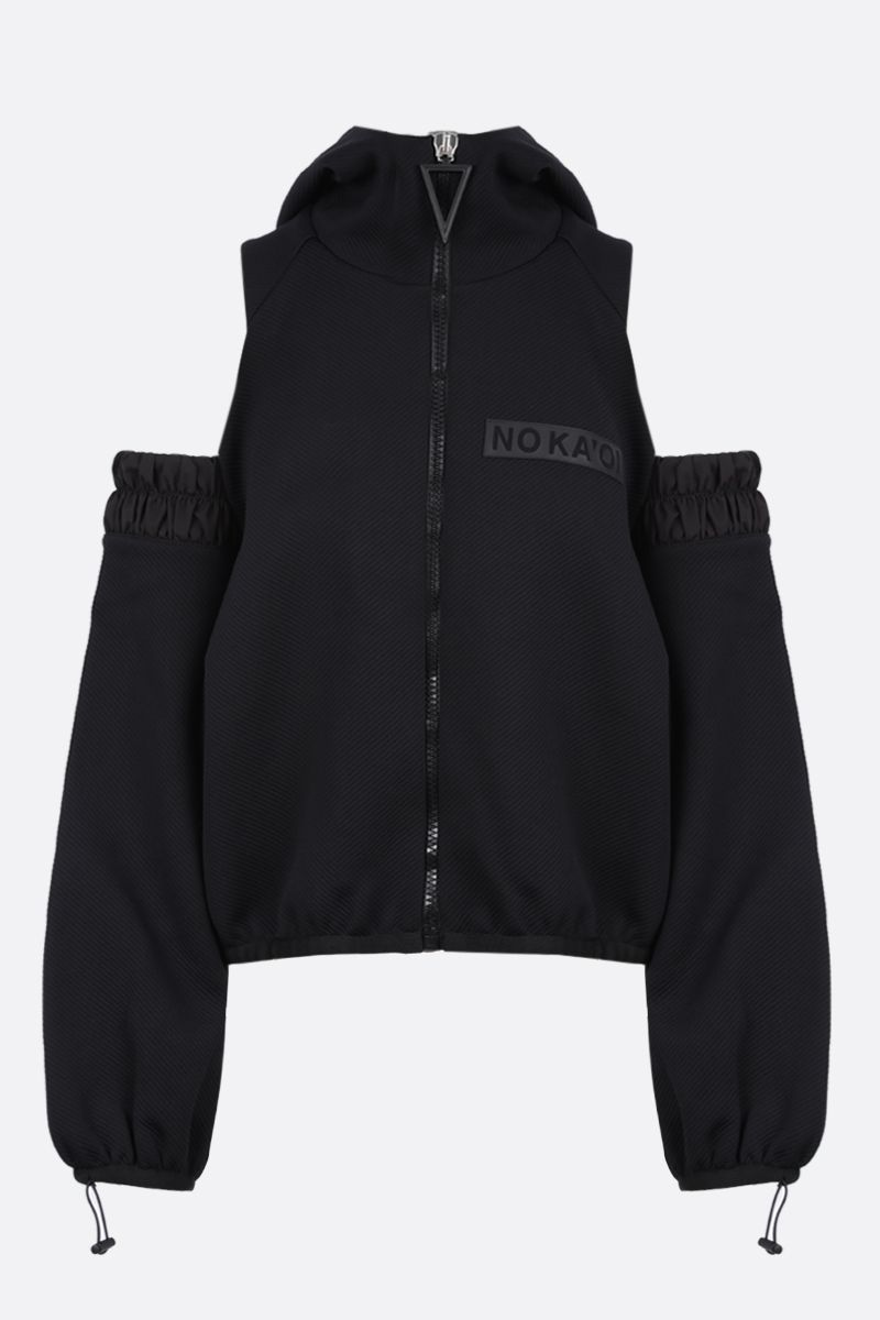 NO KA'OI: Horizon technical fabric hoodie Color Black_1