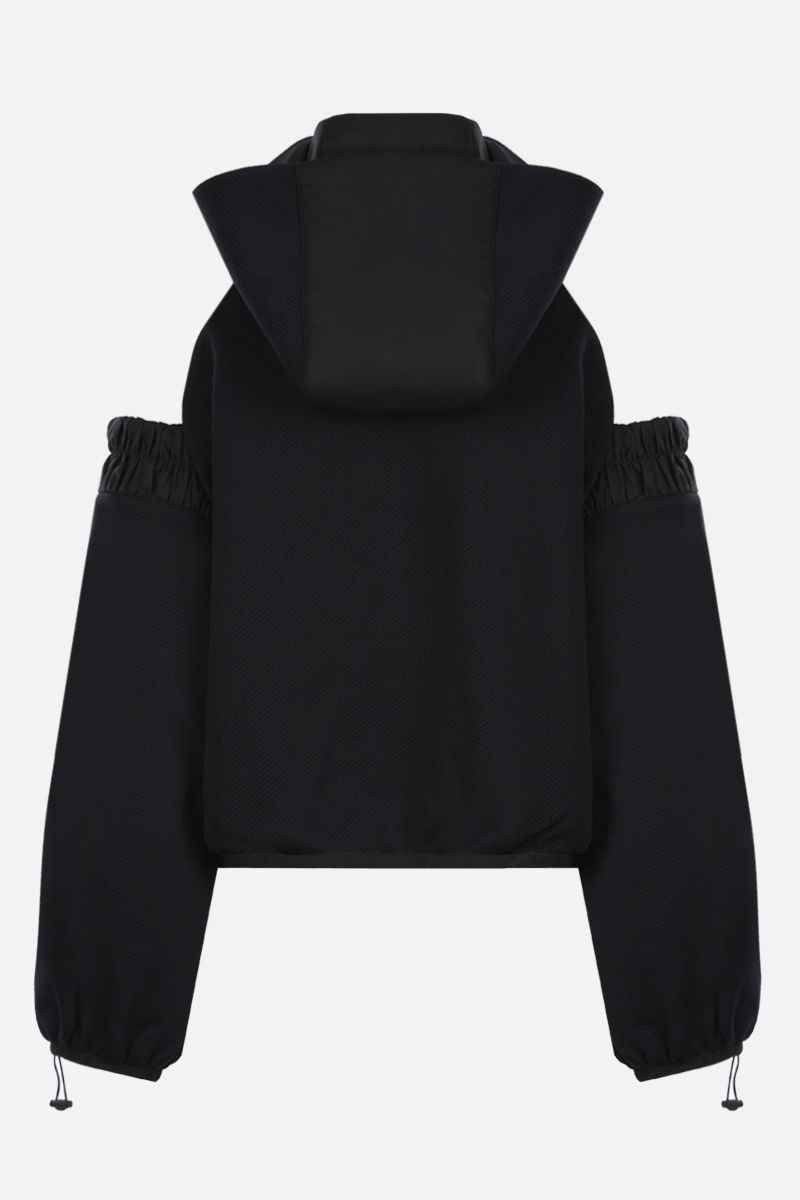 NO KA'OI: Horizon technical fabric hoodie Color Black_2