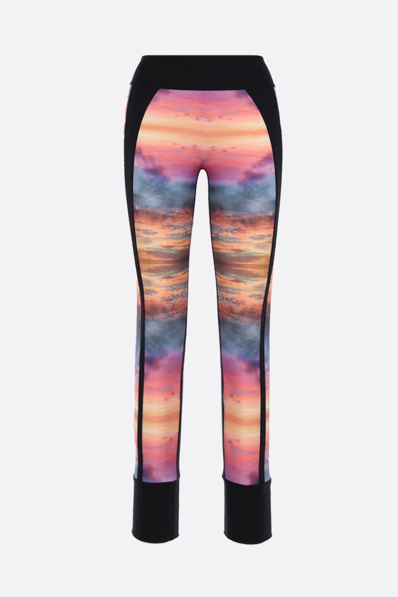 NO KA'OI: Dusk Dawn lycra leggings Color Multicolor_1