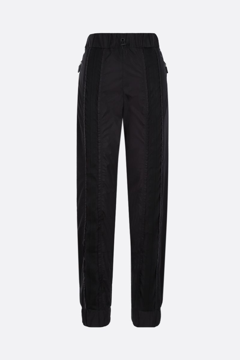 NO KA'OI: Horizon nylon joggers Color Black_1