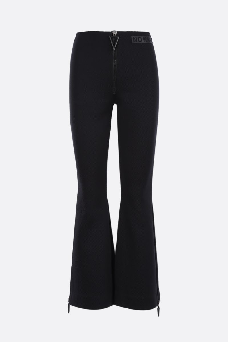 NO KA'OI: Horizon technical fabric flared pants Color Black_1