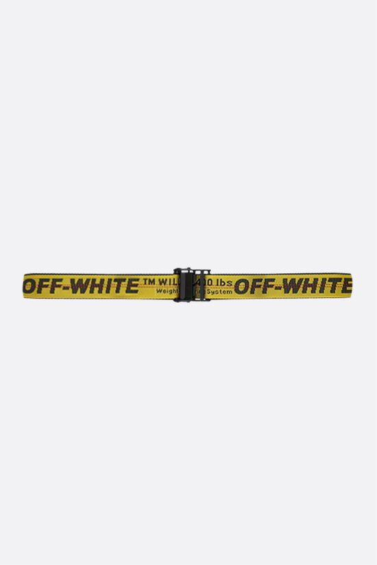 OFF WHITE: Classic Industrial belt in logoed fabric Color Yellow_1