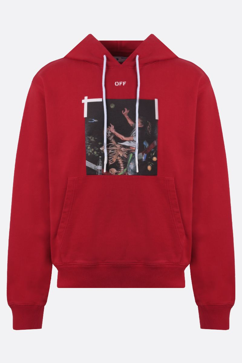 OFF WHITE: Pascal cotton hoodie Color Red_1