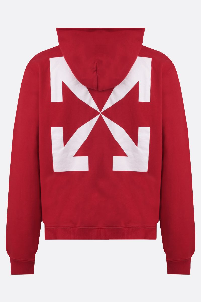 OFF WHITE: Pascal cotton hoodie Color Red_2