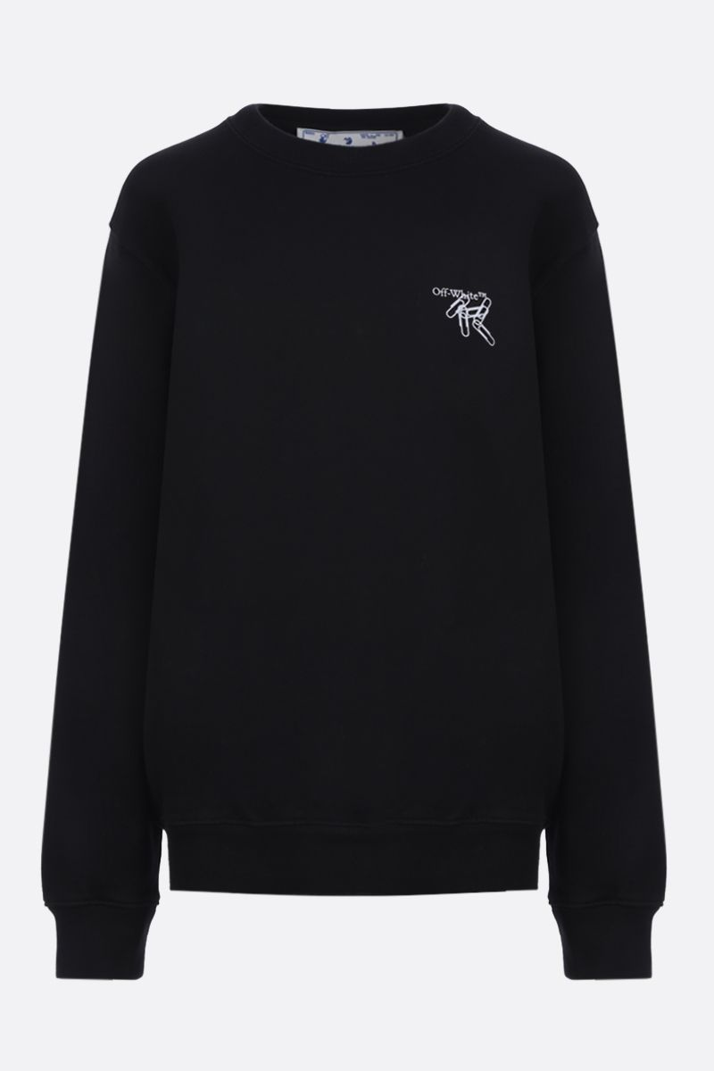 OFF WHITE: Paper Clip Arrows cotton sweatshirt Color Black_1