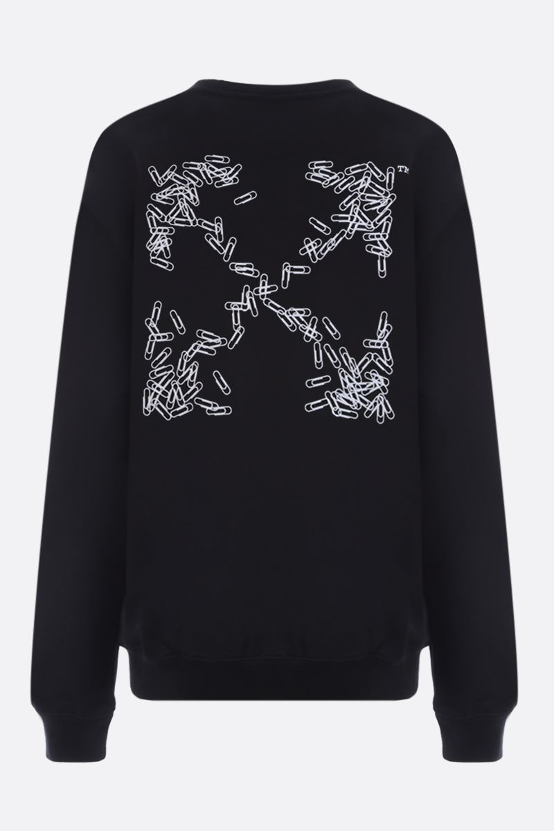 OFF WHITE: Paper Clip Arrows cotton sweatshirt Color Black_2