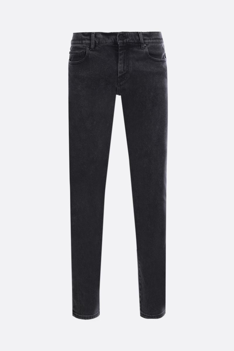 OFF WHITE: Diag skinny jeans Color Grey_1