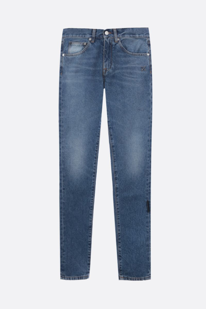 OFF WHITE: jeans slim Diag Colore Blu_1