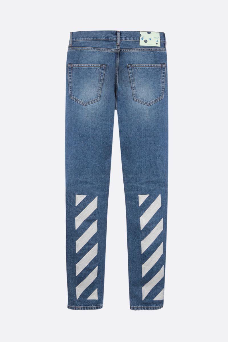 OFF WHITE: jeans slim Diag Colore Blu_2