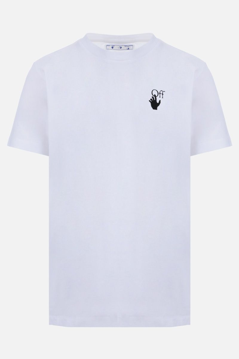OFF WHITE: t-shirt Pascal Arrow in cotone Colore Nero_1